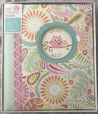 New C.r. Gibson First 5 Years Loose Leaf Memory Book- Happi Baby Girl, Baby Book