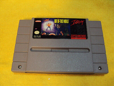 Out of This World - Super Nintendo SNES - Cart Only - Authentic - Tested