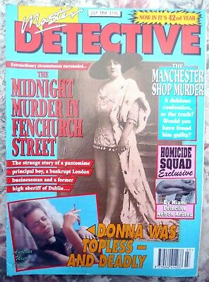 Master Detective Magazine. July 1994. 51 Pages True Stories. Good Condition.