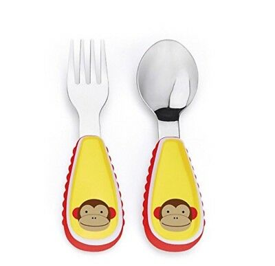 Skip Hop Baby Zoo Little Kid and Toddler Fork and Spoon Utensil Set-See Details