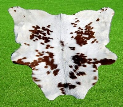"""New Calfhide Rugs Area Calf Skin Leather 7.10 sq.feet (33""""x31"""") Cow hide A-617"""