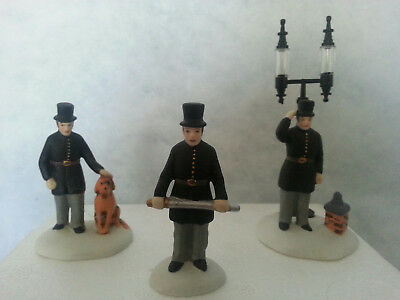 """Department 56 Dickens Village """"CONSTABLES"""" 1989 #5579-4 Set of 3 w/box"""