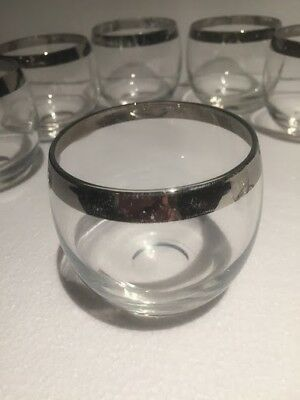 Roly Poly Silver Rim Glasses Set of 7