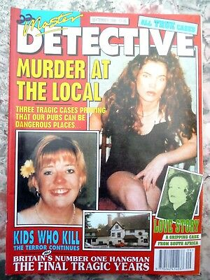 Master Detective Magazine. Sept 1998. 51 Pages True Stories. Good Condition.