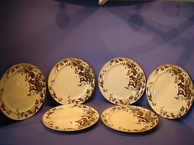 Rare And Early George Jones, 6 X Ivy Bower Pattern Plates, Circa 1881-1883