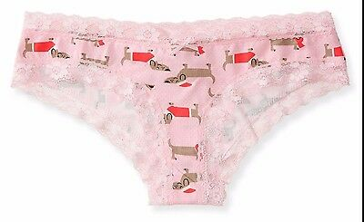 XSmall or XLarge (XS or XL) Dachshund Doxie Sausage Dog Pink Panties Underwear