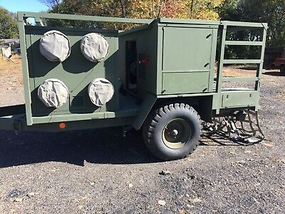 Drash 28 Kw Military Diesel Generator With Trailer Heat/air Conditioner Quiet