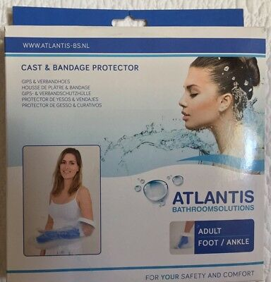 Atlantis Cast / Bandage Water Protector - Adult For Foot / Ankle Bathing