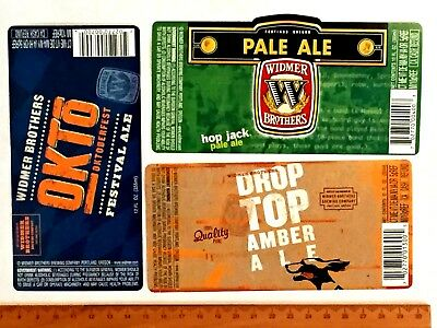 (19) MICRO CRAFT BEER LABELS Lot Widmer OR Weyerbacher PA Weeping Radish MD