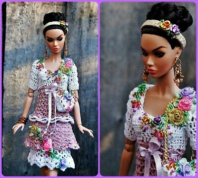 OOAK Outfit for Poppy Parker Fashion Royalty FR2 Nu Face  Barbie doll 12""