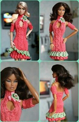 Hand made Outfit for Fashion Royalty FR2 Nu Face Poppy Barbie doll 12""