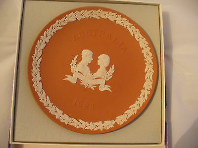 Charles & Diana Royal Visit 1983 Wedgwood Terracotta  Signed by Lord Wedgwood