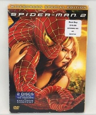 Spider Man 2 (DVD 2004) 2 Disc Set Special Edition Widescreen - Clean Discs