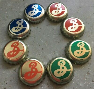 8 Brooklyn Brewery Beer Bottle Caps / Crowns  No Dents - New York City