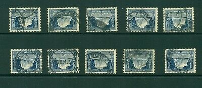 Southern Rhodesia #20 (3p falls) F-VF used x 10 stamps CV $125.00