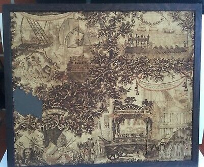 ADMIRAL LORD NELSON Circa 1806 FUNERAL FABRIC CELEBRATING NELSON AUTHENTIC