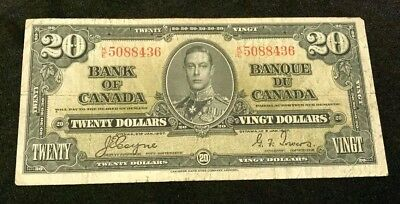 1937 Bank of Canada $20.00, BC-25c, in F-15!!!