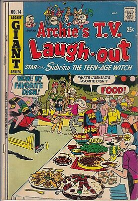"""Archie's TV Laugh Out #14  """"SABRINA"""" (Archie-1972)/FN- Solid  -combine ship-"""