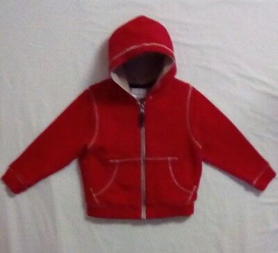 Hanna Andersson Kids Boy Size 90 US 3 Outer Wear Jacket Red 100% Cotton Spring