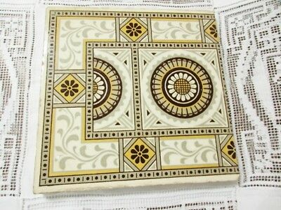 Aesthetic Victorian English Minton Tile Brown Transferware