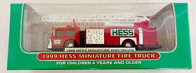 1999 Hess Miniature Fire Truck New In Box NEVER OPENED