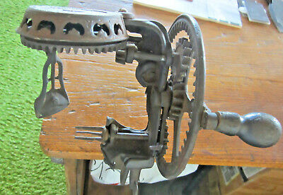 Antique Vintage Steampunk Gears Cast Iron #78 READING Apple Peeler - Works