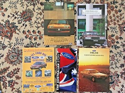 1980 / 1990's FORD DEALER SALES CATALOGUES FAIRLANE FAIRMONT ALL FORD DAY MAG +