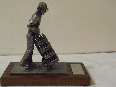 Pewter Coca-Cola Collectible Delivery Man
