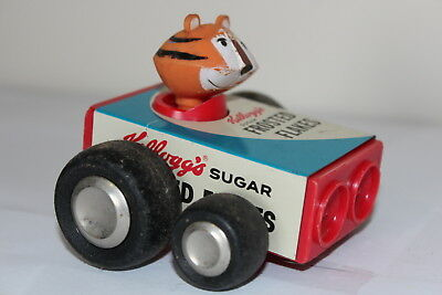 VINTAGE TONY THE TIGER RACE CAR CEREAL PREMIUM ADVERTISING TOY Frosted Flakes