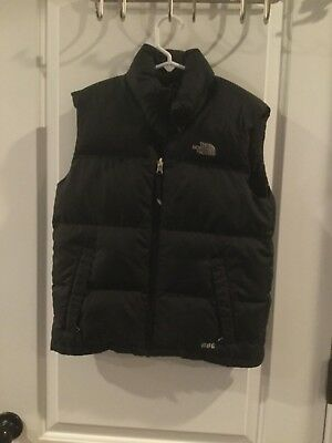 The North Face 600 Thermal Vest Quilted Puffer Fluff Boy's M Goose Down Black