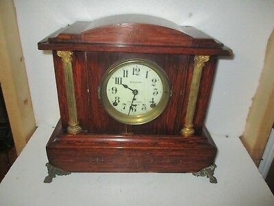 Red Adamantine Seth thomas 4 bell SONORA CHIME clock with Porcelain dial