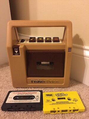 Vintage Fisher Price 826 Tape Cassette Player With Cassettes 1980