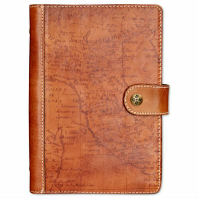 PATRICIA NASH Chieti Leather Agenda in Signature Map Riot Rust Leather MSRP $69