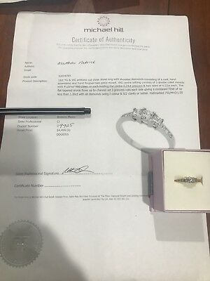 Engagement Ring. 1.00ct Princess Cut. Michael Hill