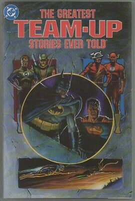 The Greatest Team-Up Stories Ever Told hardcover (DC, 19890 book NM dj FINE