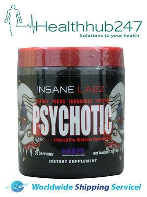 PSYCHO GRAPE Pre-Workout Powerhouse with DM2A and AmpiBerry INSANE LABZ