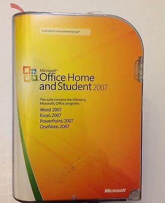 Microsoft OFFICE Home and Student 2007  Full Retail 3 User Version for Windows