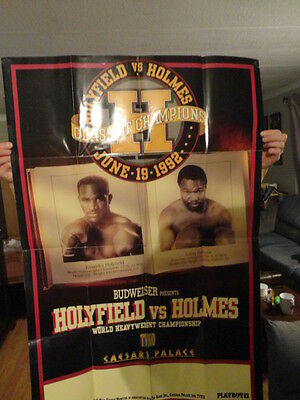 Original Full Size Boxing Event Poster 1992 Holyfield Vs Holmes Caesars Palace