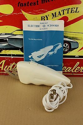Vintage Puretec Pure-Kut Electric Scissors with Insert Shipping Box Sheers Cut