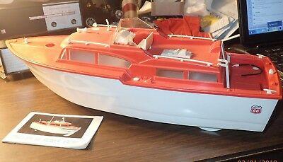 Vintage 1960s Phillips 66 Power Yacht Battery Operated Boat in Original Box