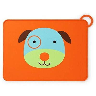 Skip Hop Zoo Fold & Go Silicone Placemat Dog Placemats Rectangle Blue Brown Gree