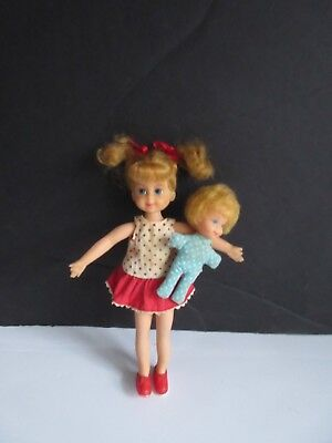 "Vtg 60's Mattel Small 6"" Buffy and Mrs. Beasley Dolls"