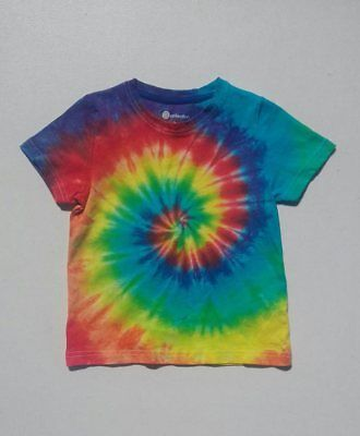 KIDS - Classic Rainbow Spiral Tie Dye Sizes 0 - 14