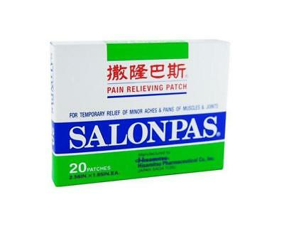 Salonpas Pain Relief Patches - GENUINE PRODUCT + FREE SHIPPING