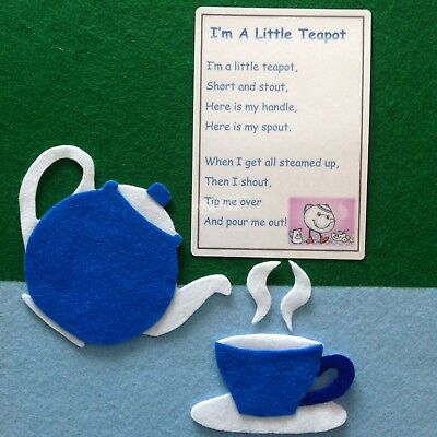 Im A Little Tea Pot Felt Story Teacher Resource