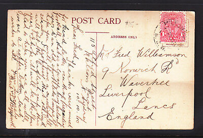 Postcard: 1910  Manly Sydney Canceled At Milson's Point  To England