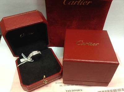 Cartier Love Ring Diamond-Paved 18K White Gold Box - Authentic - Quick Sale $12K