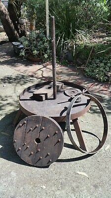 Vintage Grape press (parts missing) garden feature