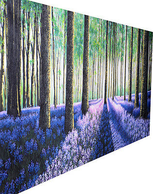 """tree forest  woods authentic large canvas art painting huge 79"""" COA By Jane"""