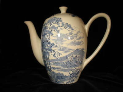 Rare Enoch Wedgwood COUNTRYSIDE BLUE 6 cupTeapot Coffee Pot - Very Good Cond.
